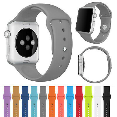 $ CDN4.67 • Buy Apple Watch Band Series 5/4/3/2 Silicone Sport IWatch Strap 44mm 40mm 38mm 42mm