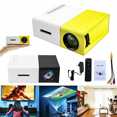 AU105.66 • Buy Mini Projector YG300 3D HD LED Portable Home Theater Cinema 1080P AV USB HDMI
