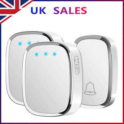 Wireless Door Bell Doorbell Waterproof Wall Plug-in Chime Remote 300M 36 Tunes • 10.99£