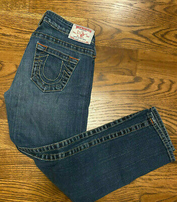 $39.99 • Buy True Religlion Lizzy Cropped Distressed Denim Jeans Size 26