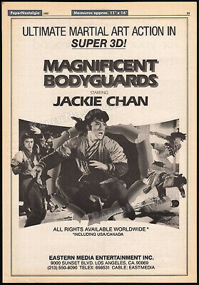 $ CDN26.50 • Buy MAGNIFICENT BODYGUARDS__Original 1982 Trade Print AD Promo / Poster__JACKIE CHAN