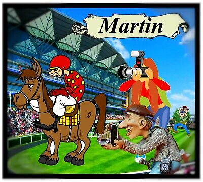 £7.99 • Buy Personalised Fun Horse Racing Novelty Coasters - Any Name  / Easy Clean / Gifts