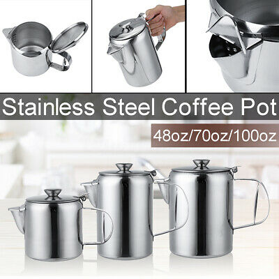 £13.51 • Buy 48/70/100Oz Stainless Steel Teapot Cafe Tea Coffee Lid Drink Kitchen Catering