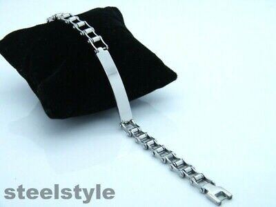 Biker Gothic Stainless Steel 316l Bike Chain Bracelet  • 6.99£