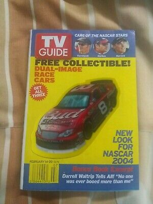 $8 • Buy Dale Earnhardt Jr. NASCAR February 14-20 2004 TV Guide Dual-Image Race Car Cover