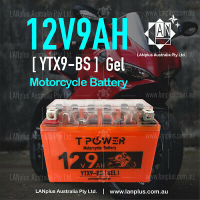 AU41.99 • Buy 12V 9AH YTX9-BS Gel Motorcycle Battery Dirt Bike ATV Quad Scooter Gokart Mower