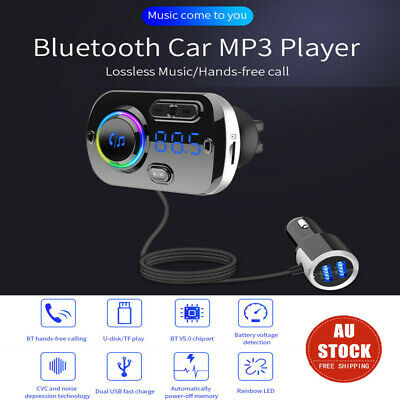 AU26.99 • Buy Wireless Bluetooth Car Kit FM Transmitter Handsfree Radio MP3 Player USB Charger