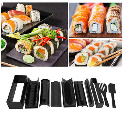 Sushi Making Kit Onigiri Maker Mold Mould Complete 10 Pieces DIY Rice Roll Set • 11.95£