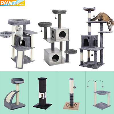 AU48.90 • Buy Cat Tree Scratching Post Scratcher Tower Climbing Activity Centre Bed Furniture