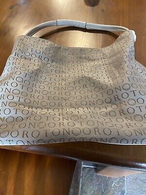 AU50 • Buy Oroton Large Hobo Signature Bag Fawn/beige With Dustbag