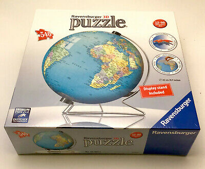 $23 • Buy Ravensburger - The Earth - 3d Puzzle Ball - 540 Piece World Globe With Stand New