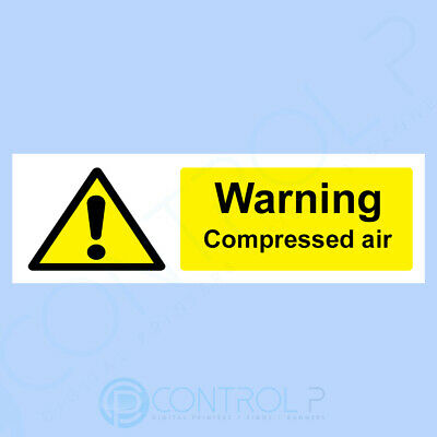 Warning Compressed Air Sign,Sticker - All Sizes & Materials - Safety - 300x100mm • 1.29£