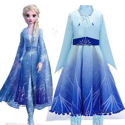 AU19.75 • Buy 2019 New Release Girls Frozen 2 Elsa Costume Party Birthday Dress Size 2-10Yrs