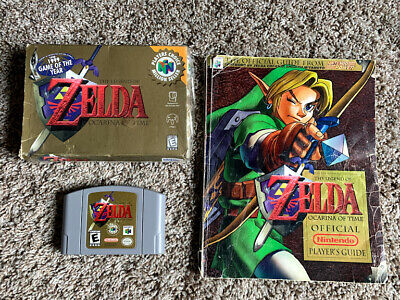 $74.99 • Buy The Legend Of Zelda Ocarina Of Time Nintendo N64 W/ Box & Strategy Guide GREAT!