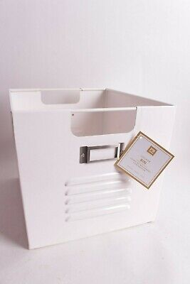 $9.95 • Buy NWT Pottery Barn PB Teen Large Locker Storage Bin, White 11 X 13 X 10