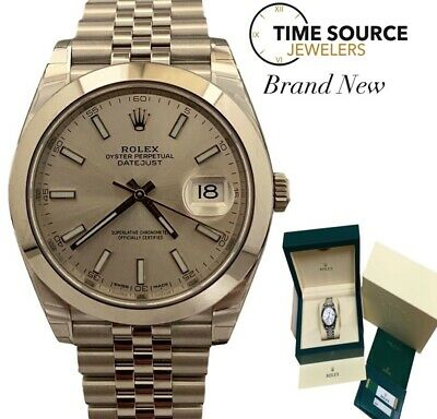 $ CDN11041.82 • Buy Brand New Rolex Datejust 41 Stainless Silver Dial Jubilee B&P 126300 2020 Watch