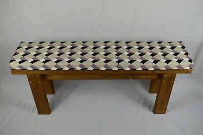 Handmade Wooden Kitchen Dining Bench And Cushion Set (14inch Wide Seat) • 66£