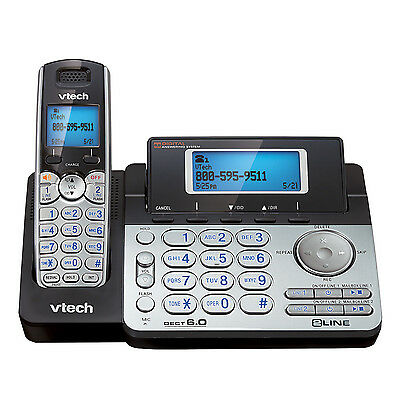 $ CDN118.56 • Buy V-Tech VT-DS6151, 2 Line Expandable Cordless Phone System, Digital Answ. Syst.