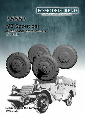 $21.33 • Buy 1/35 M3 Scout Car Directional Pattern Tyres Wheels For Tamiya Kits