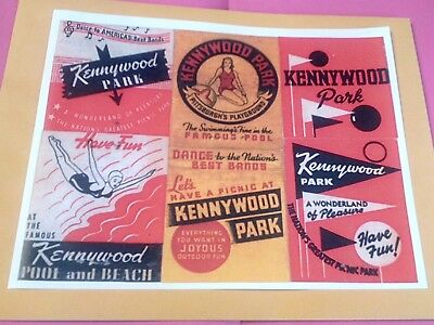 $5.95 • Buy Circa 1950 Kennywood Amusement Park Pittsburgh PA. Advertising Poster Repo