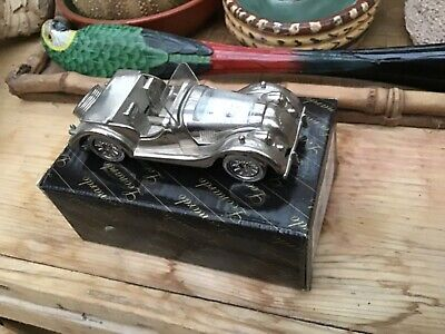 Morgan Diecast Silver Display Model With Clock. • 75£