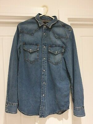 Diesel Denim Shirt Size Small 100% Cotton Authentic With Tags RRP £160 • 44.99£
