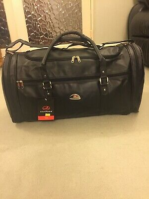 "COMPASS 26"" Leather COATED Holdall/Travel/Work/Sport /overnight /gym Bag • 27£"