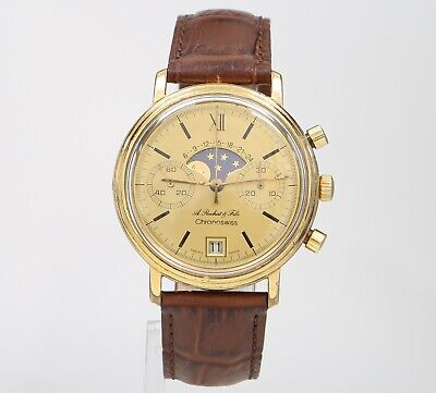 $ CDN1707.07 • Buy Vintage ChronoSWISS A. Rochat & Fils Moonphase Chronograph 37mm 7734 Mens Watch