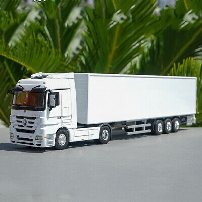 1/50 Mercedes Benz Actros Container Truck Trailer White Diecast Car Model • 50.14£