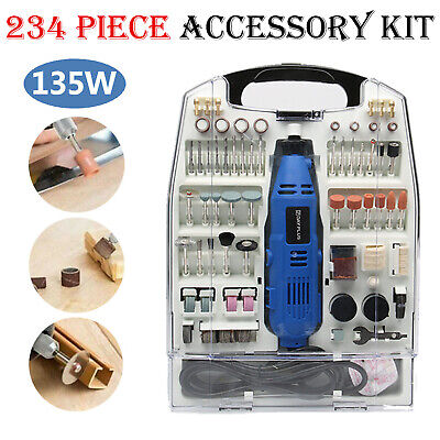 234pc Multi Rotary Tool Hobby Craft Mini Drill Grinder Power Set Electric Dremel • 28.34£