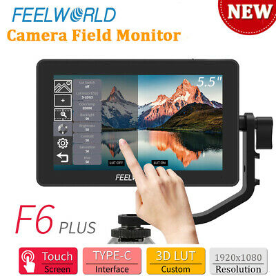 AU255.27 • Buy FEELWORLD F6 PLUS 5.5  IPS Touch Screen 1920*1080 Video Camera Field Monitor
