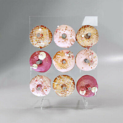 $17.12 • Buy Acrylic Donut Display Stand Cake Transparent Rack Birthday Party Table Decor Uk