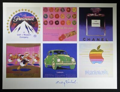"""$799 • Buy Andy Warhol, Hand Signed Print """"Gallery"""" (Paramount, Chanel, Apple, VW), W/ COA"""