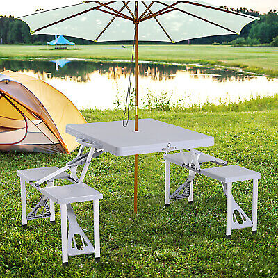 £35.99 • Buy Outsunny Garden Aluminum Picnic Table&Bench Set Camping BBQ Foldable Portable