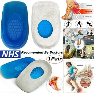 £2.29 • Buy Silicone Heel Support Shoe Pads Gel Orthotic Plantar Care Insert Insoles Cushion