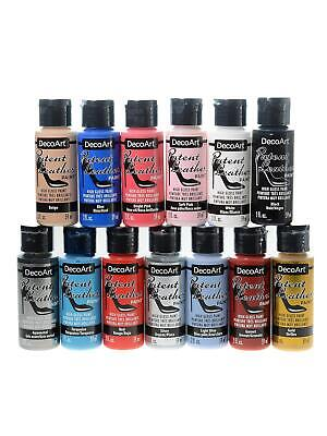 DecoArt Patent Leather - High Gloss Paint 59ml - All Colours - BUY 5, GET 5 FREE • 5.99£