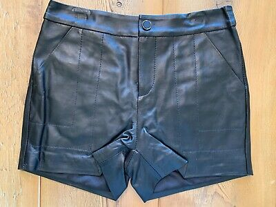 $75 • Buy Azetti Genuine Leather Shorts, Black ,New, Size L