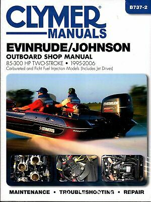 $31.94 • Buy Clymer Evinrude Johnson Outboard 90-225 Hp Ficht Service Repair Manual 1995-2006