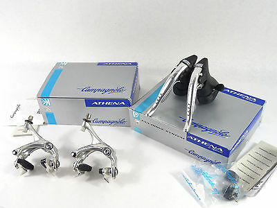 $410.55 • Buy Campagnolo 9 Speed Athena Ergopower Shifters & Brake Caliper Set 1998 Alloy NOS