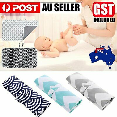 AU8.99 • Buy Portable Baby Change Mat Reusable 100% Waterproof Nappy Diaper Changing Pad Bag