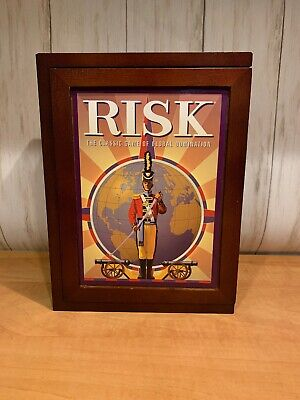 $22.50 • Buy 2009 RISK Classic War Board Game Wooden Box Book Collection Edition Complete