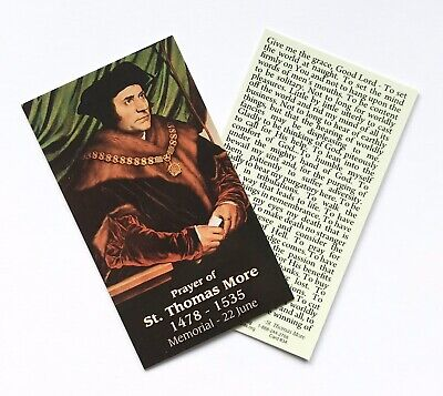 £1.50 • Buy ST THOMAS MORE / PRAYER FOR GRACE Prayer Card - Wallet / Purse / Bookmark Size