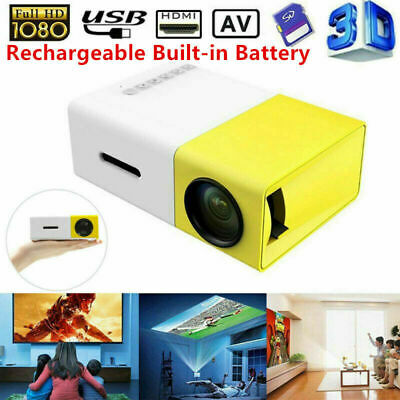 Portable Rechargeable Pocket Mini LED Projector 3D HD 1080P Home Cinema HDMI • 45£