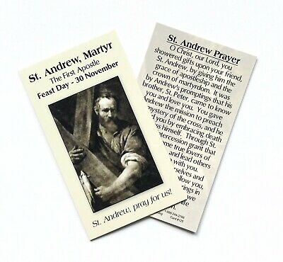 £1.50 • Buy ST SAINT ANDREW, FIRST APOSTLE Prayer Card - Wallet / Purse / Bookmark Size