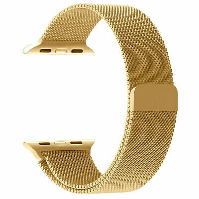 $ CDN1.29 • Buy Apple Watch Series 3 2 1 Milanese Stainless Steel IWatch Loop Band 42mm Gold