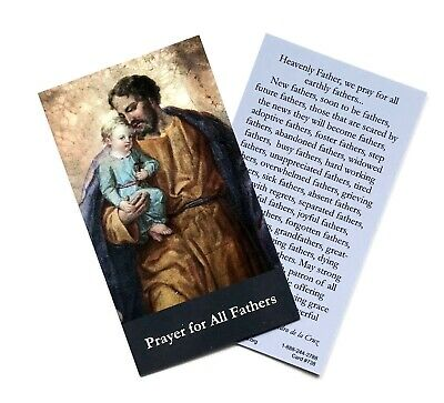 PRAYER FOR ALL FATHERS Prayer Card - Wallet / Purse / Bookmark Size • 1.50£