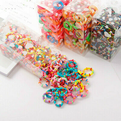 $3.29 • Buy 100 Pcs/lot Kids Hair Rope Scrunchy Elastic Girls Rubber Band Gum For Hair Ties