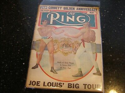 $12.99 • Buy The Ring Boxing Magazine May 1947 Joe Louis Big Tour On Cover WWII Era Vintage