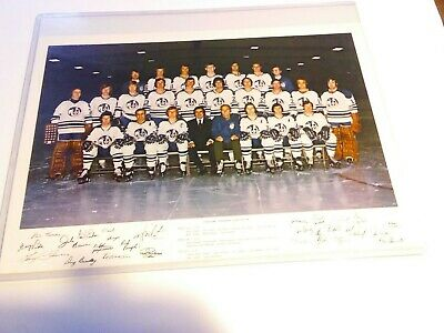 $9.99 • Buy 1973 Cleveland Crusaders WHA Hockey Team Mini Poster W/ Holder Gerry Cheevers