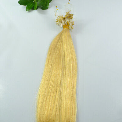£20.69 • Buy Loop Micro Ring Bead Hair Extensions 0.5g/s Machine Made Remy 100% Human Hair